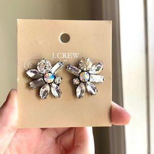 JCrew Square Studs Crystal Earrings